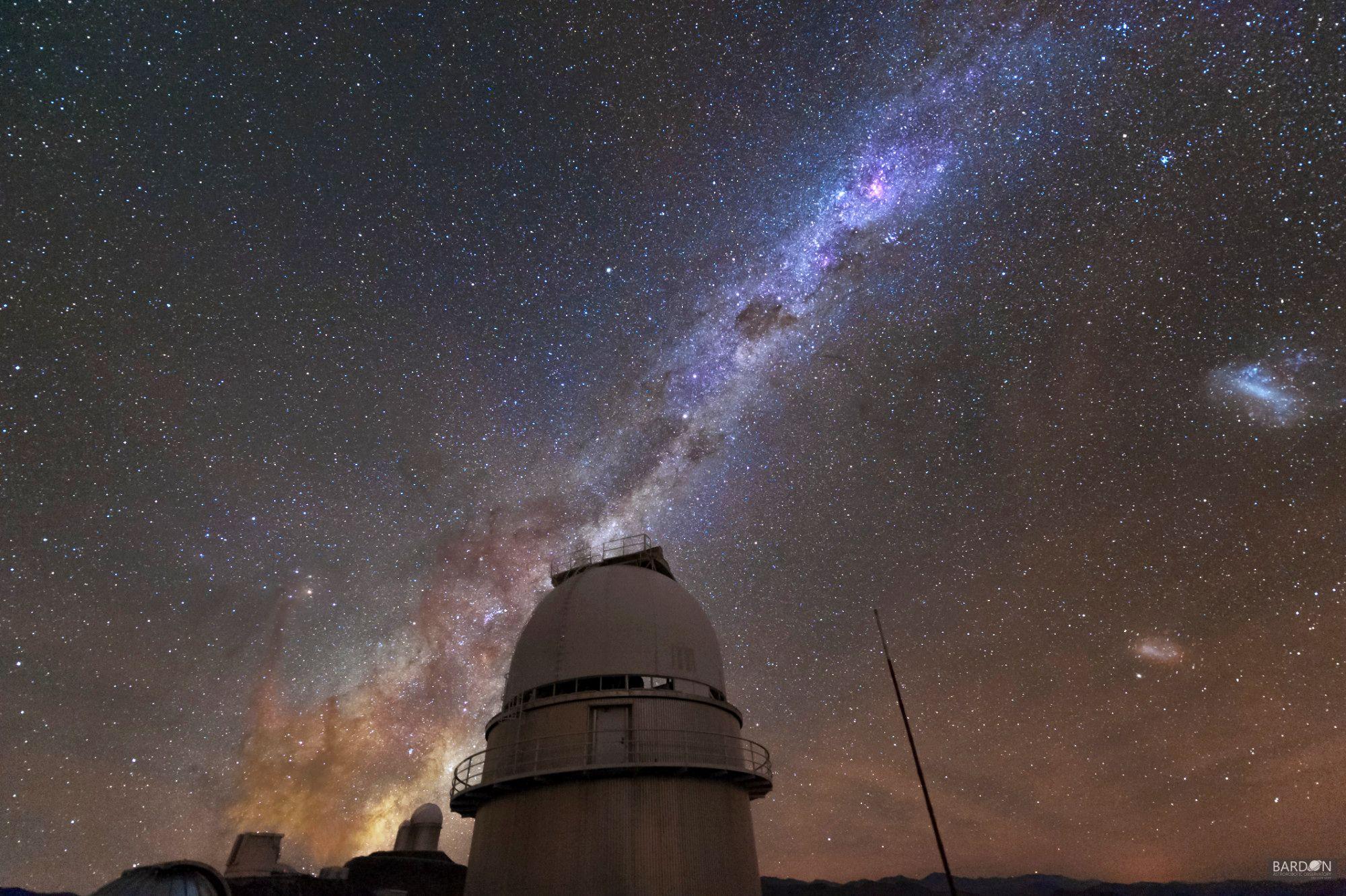 Mléčná dráha nad Dánským 1,54 m dalekohledem