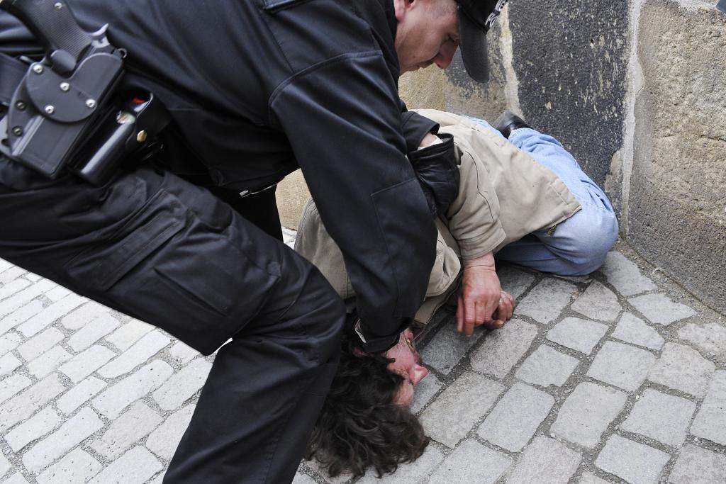 Policejní zásah. Ilustrační foto.