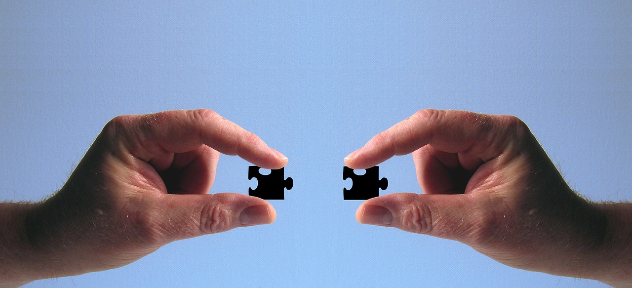 Ruce, puzzle, skládačka