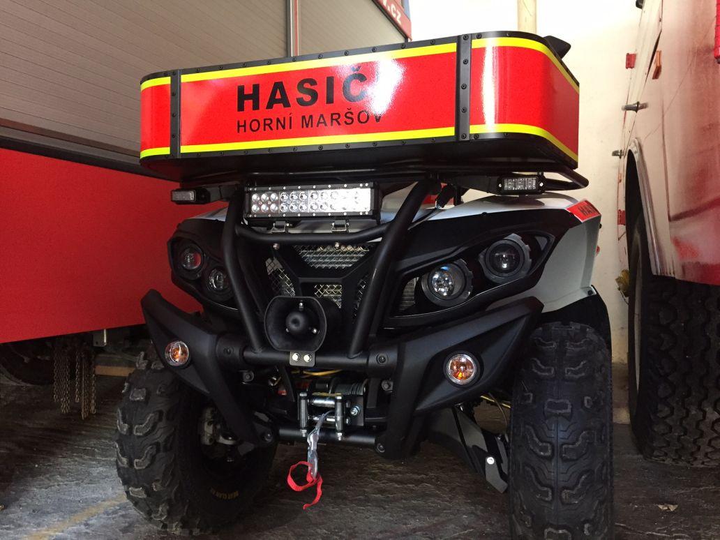 Novou čtyřkolku mají dobrovolní hasiči v Horním Maršově v Krkonoších