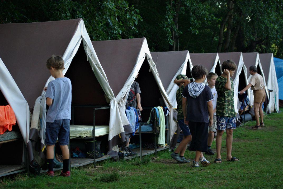 Tábor v Netolicích po budíčku