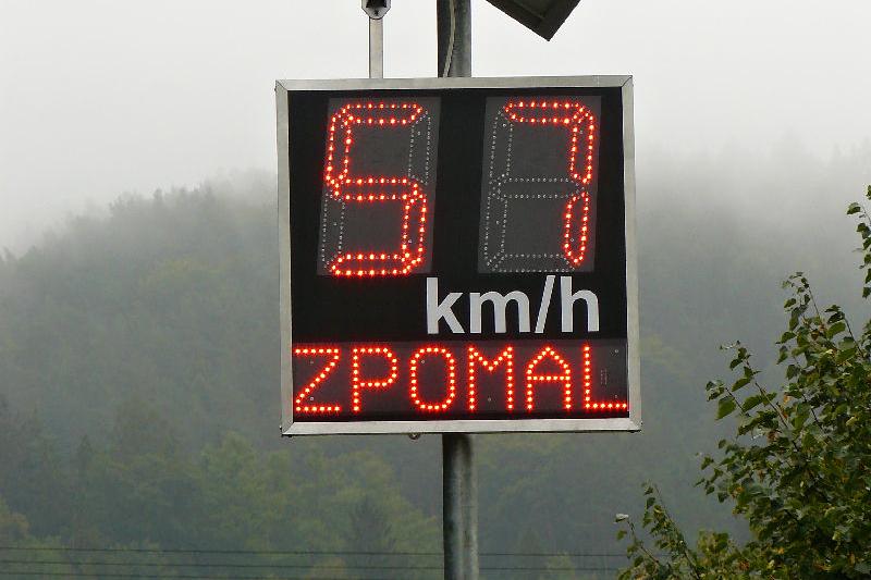 Měření rychlosti (ilustr. foto)