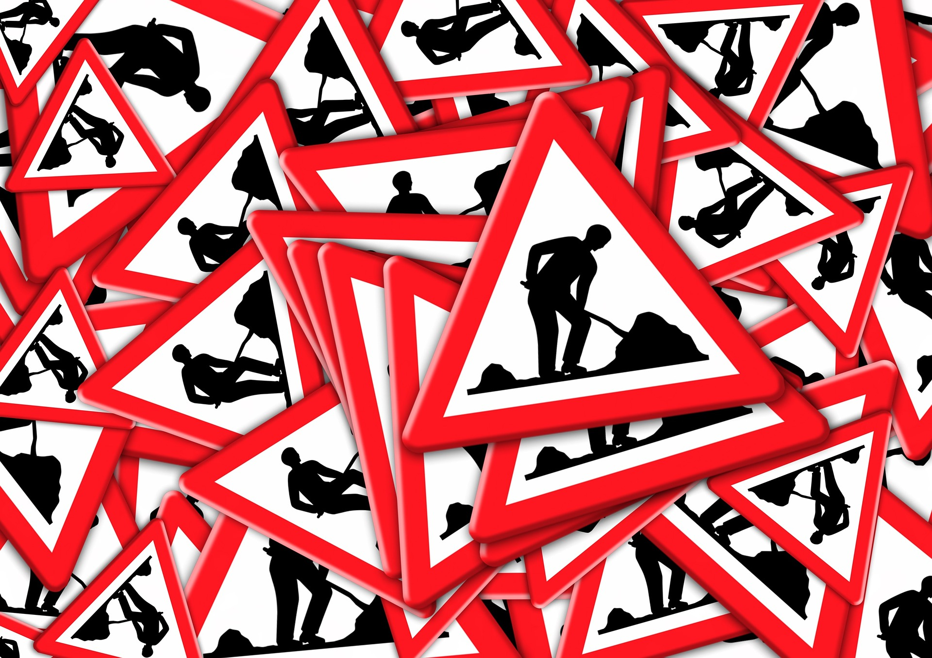 Práce na silnici a dopravní komplikace (ilustrační foto)