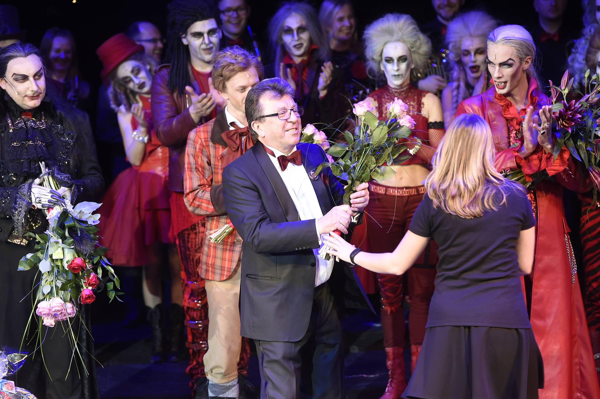 Děkovačka - Ples upírů - Praha, GOJA Musical Hall
