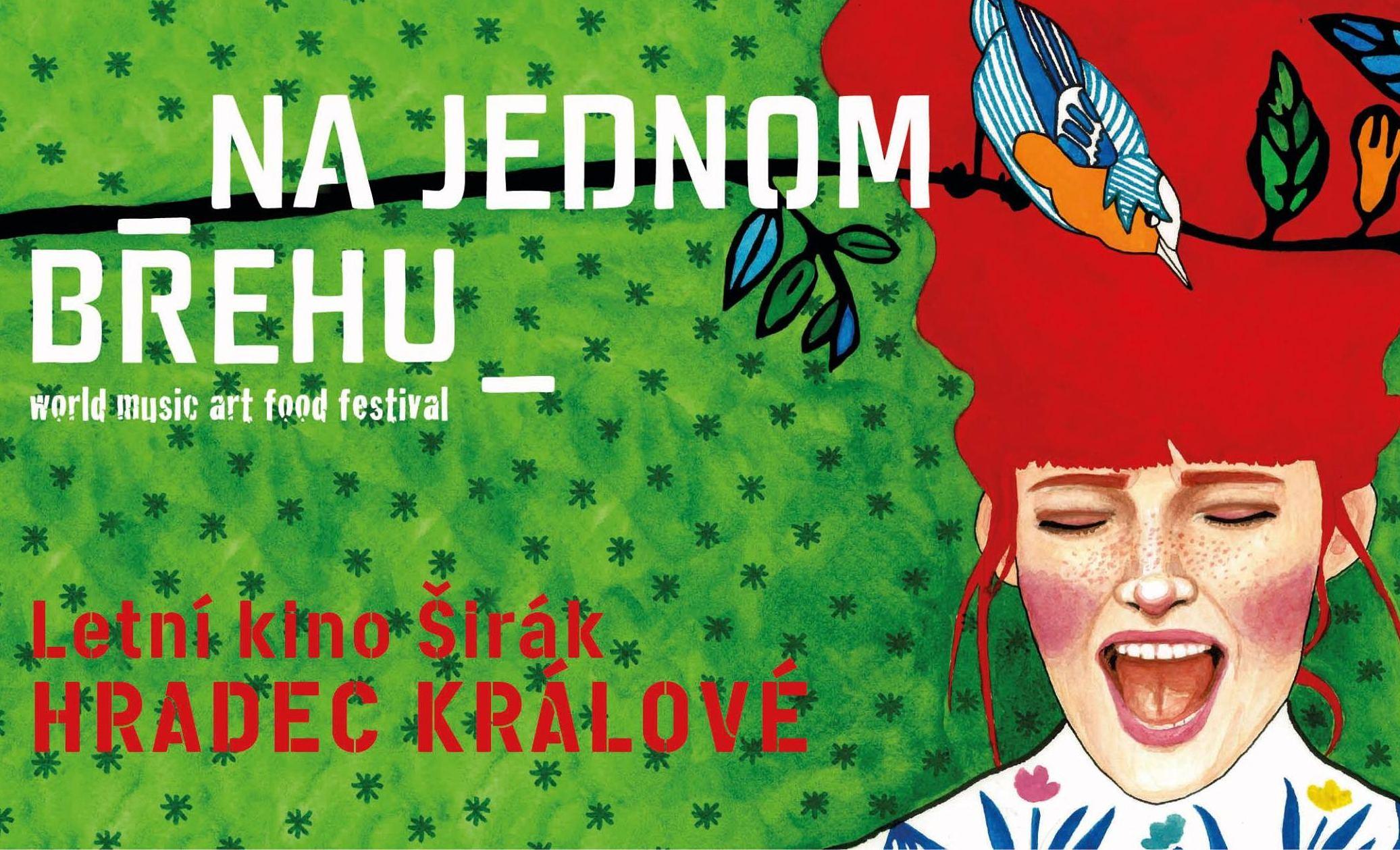 Pozvánka na hudební festival Na jednom břehu v Hradci Králové