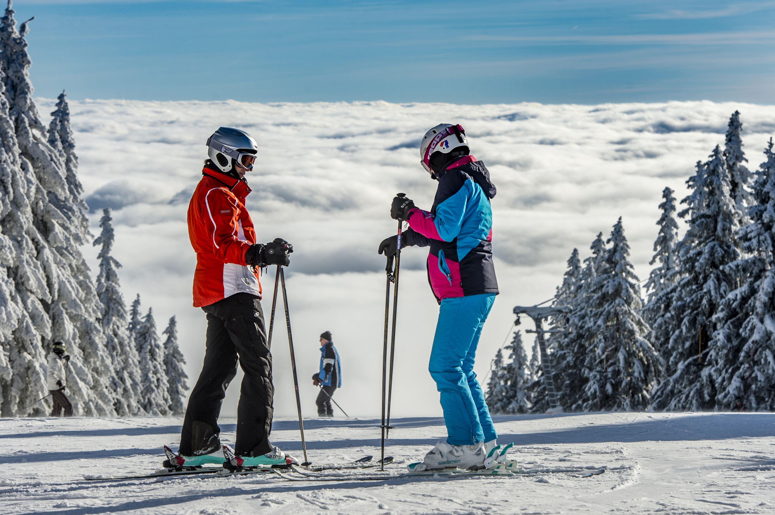 Foto z prvního lyžování v sezóně 2017-18
