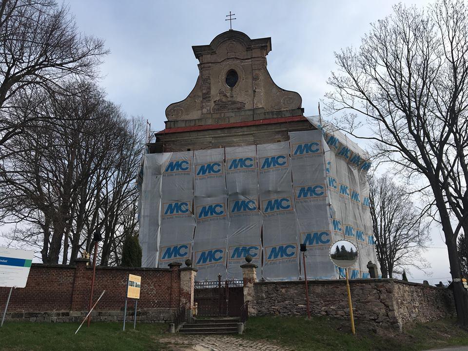 Kostel svatého Jakuba Většího v Ruprechticích na Broumovsku čeká oprava