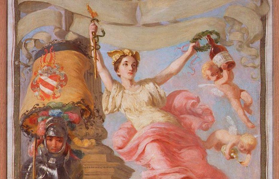 Dekorativní panel La ferme, olej na plátně, 1891 (výrěz)