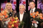 Lada Klokočníková, Mirek Vaňura a profesor Pavel Pafko, vítěz 23. ročníku rozhlasové ankety Šarmantní osobnost roku