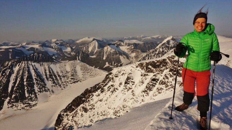 Na vrcholu nejvyšší švédské hory Kebnekaise (2098 m)