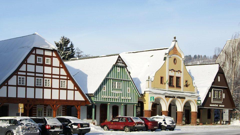 Štítové domky jsou ukázkou nejstarší zástavby města Vrchlabí