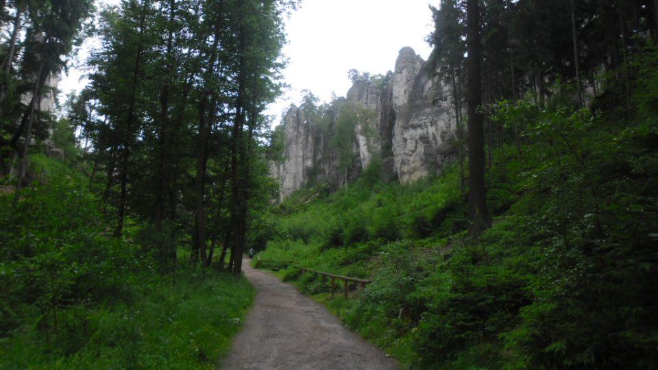 Prachovské skály - cesta do skal