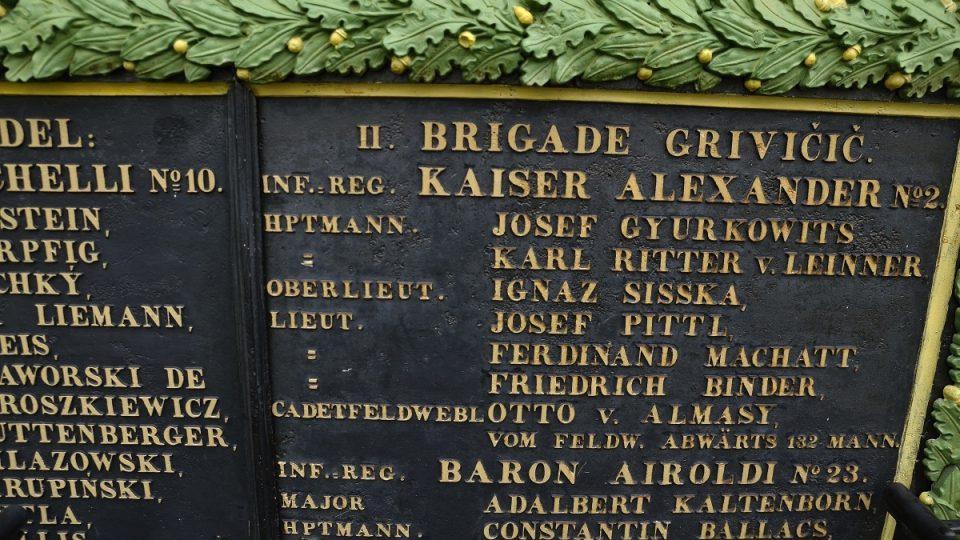 Pomník na památku padlým ve válce 1866