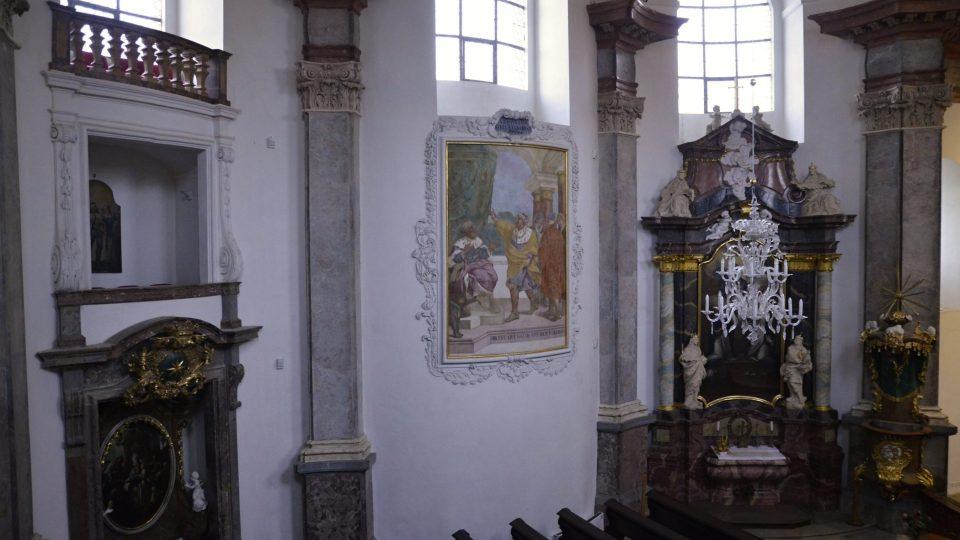 Interiér smiřické kaple