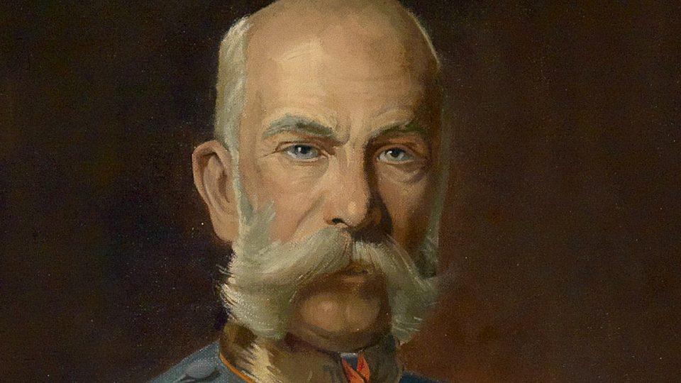 Výřez z portrétu císaře Františka Josefa I.