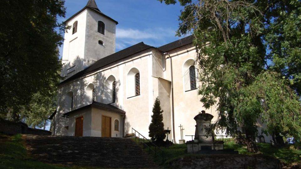 Celkový pohled na kostel od jihovýchodu
