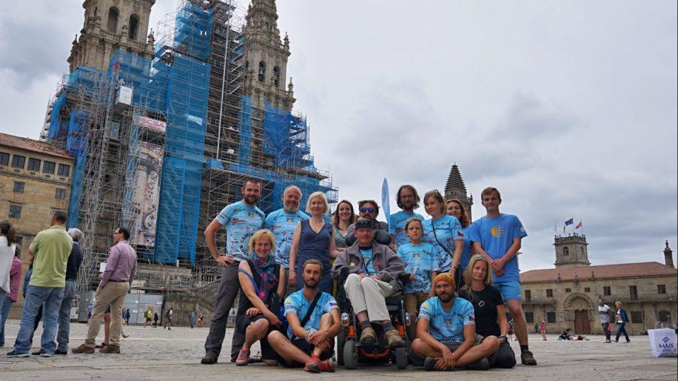 Celkem nás do Santiaga doputovalo 15 poutníků z různých koutů ČR