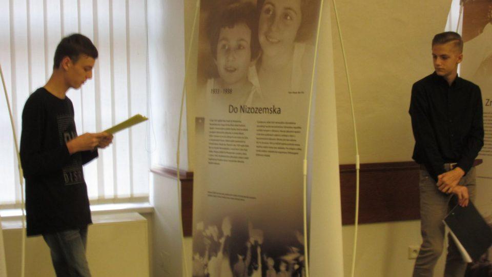 Příběh Anne Frankové - výstavu na zámečku v Hořicích