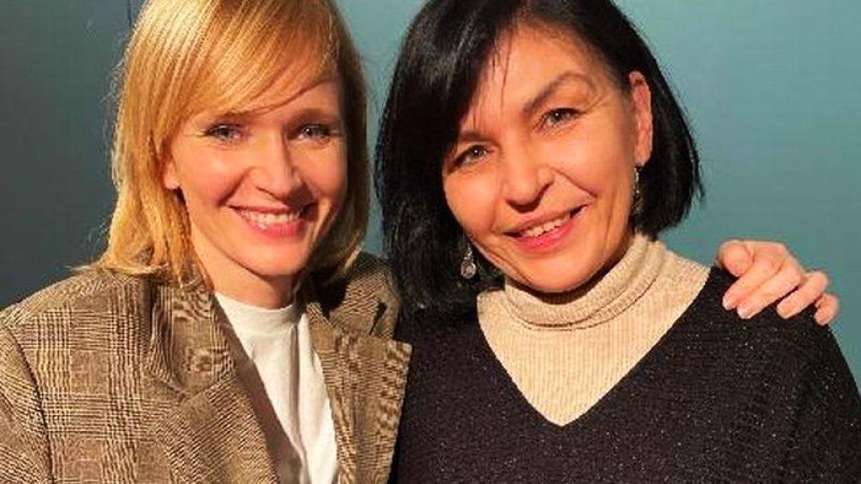 Martina Komárková s herečkou Aňou Geislerovou, představitelkou zralé Boženy Němcové
