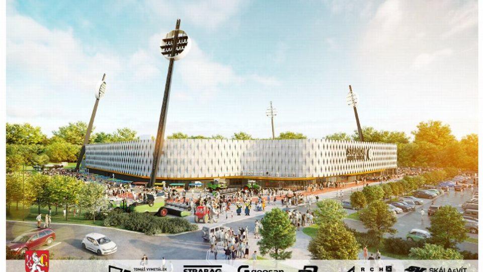 Vizualizace nového stadionu v Hradci Králové