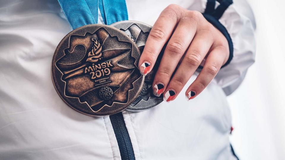 Sportovní střelkyně Nikola Mazurová vystřílela na Evropských hrách v Misku dvě medaile