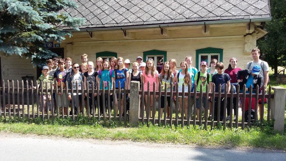 S žáky na školním vyletě