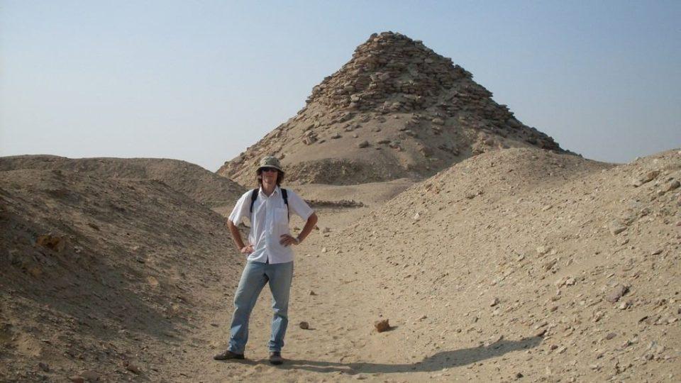 Egyptolog Mgr. Daniel Šichan na výzkumu