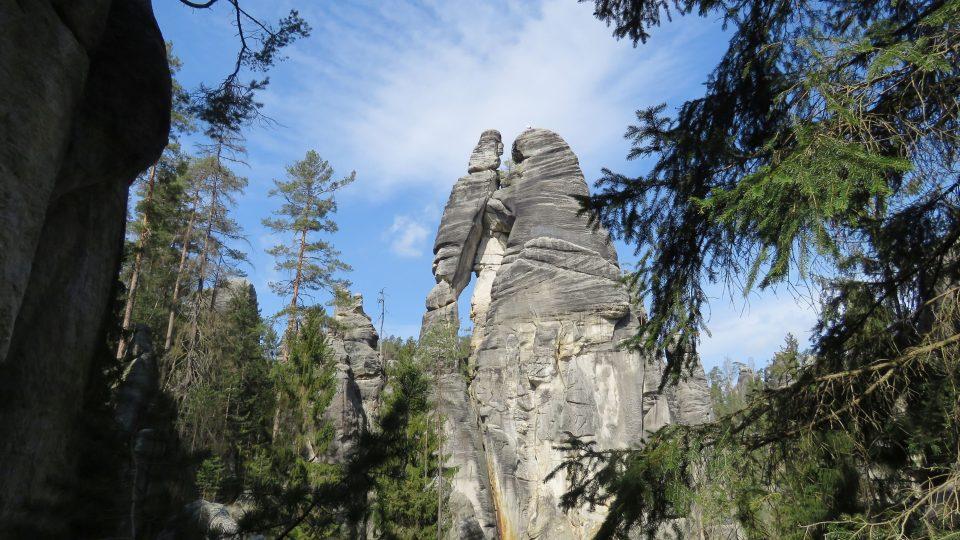 Národní přírodní rezervace Adršpašsko-teplické skály, Milenci