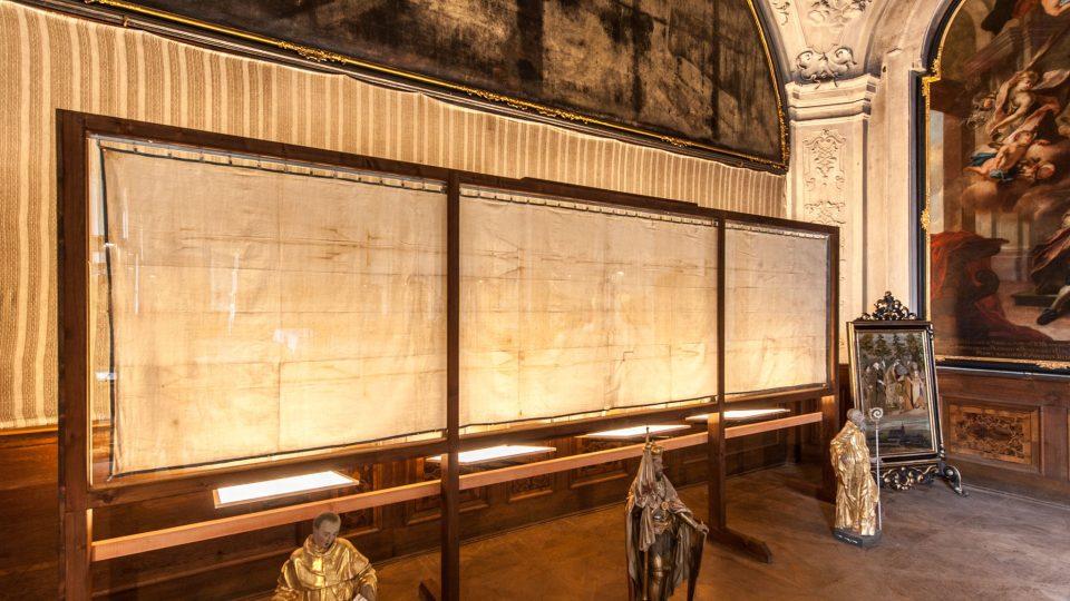 Kopie turínského plátna v broumovském klášteře
