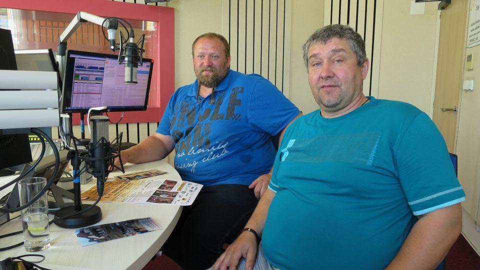 Richard Poláček a Jan Paďour ve studiu Českého rozhlasu Hradec Králové