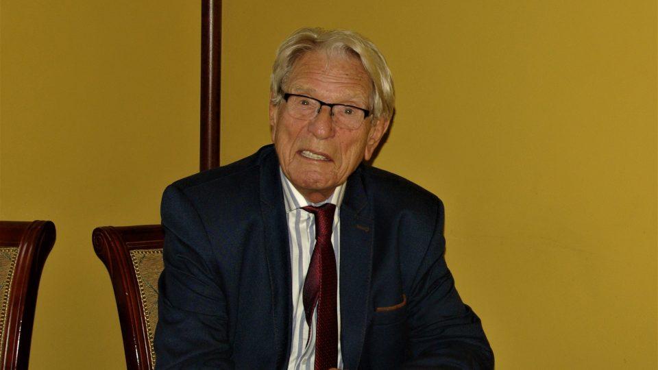Vadim Petrov na tiskové konferenci v Jičíně