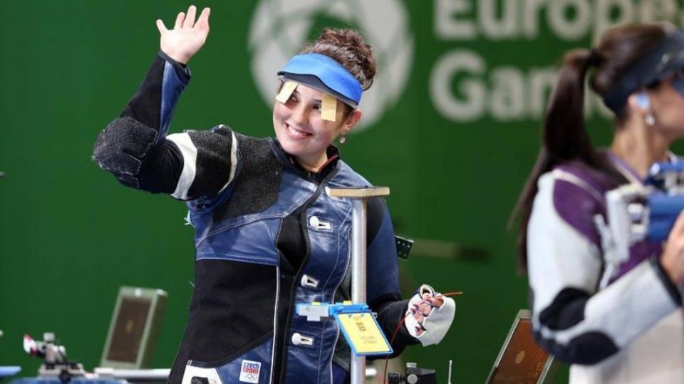 Sportovní střelkyně Nikola Mazurová na Evropských hrách v Minsku