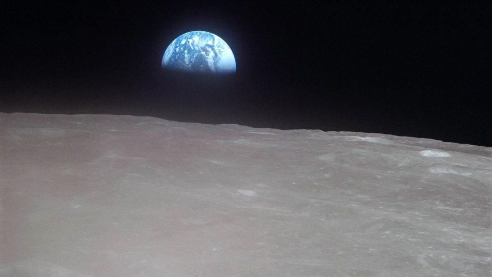 Pohled na Zemi z Měsíce