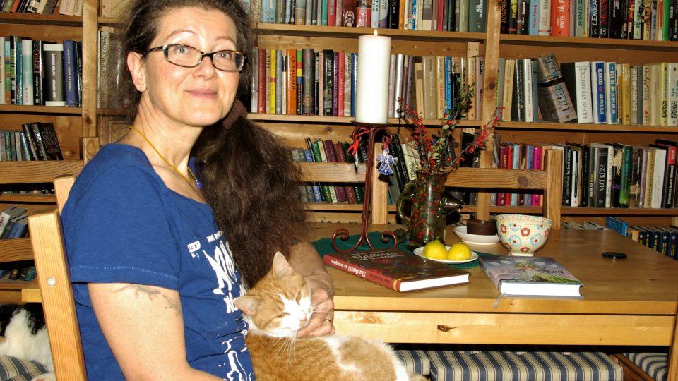 Výtvarnice, bloggerka, spisovatelka a kuchařka Eva Francová v srdci domu ve Svatojánu