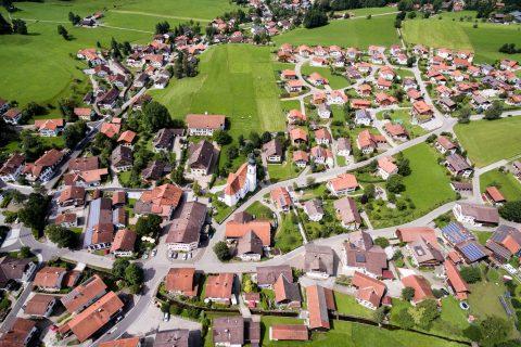Městečko Rieden am Forggensee, Německo