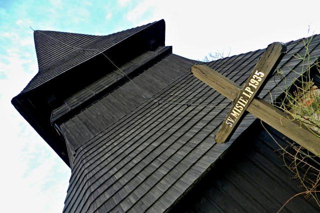 Gotická zvonice z konce 16. století v obci Chotěborky