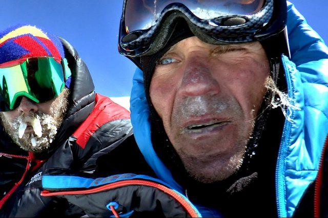 Marek Holeček a Zdeněk Hák na vrcholu hory Gasherbrum I | foto: archiv Marka Holečka