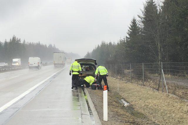 Dopravní policisté během pracovního dne