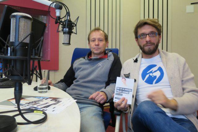 Ondřej Malý a David Petr ve studiu Českého rozhlasu Hradec Králové