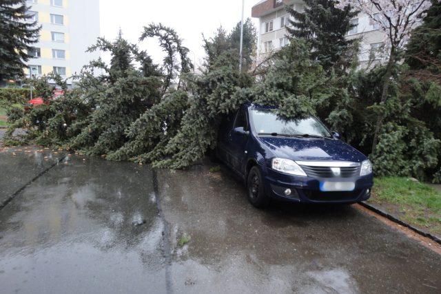 Vítr lámal stromy a ničil střechy. Nejvíc práce měli hasiči na Náchodsku a Hradecku