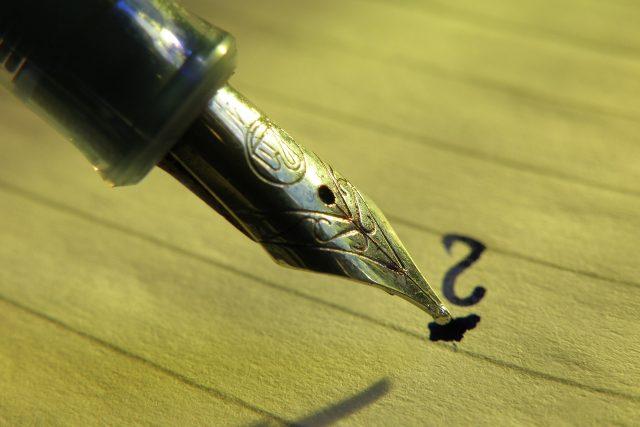 Pero, inkoust, psaní