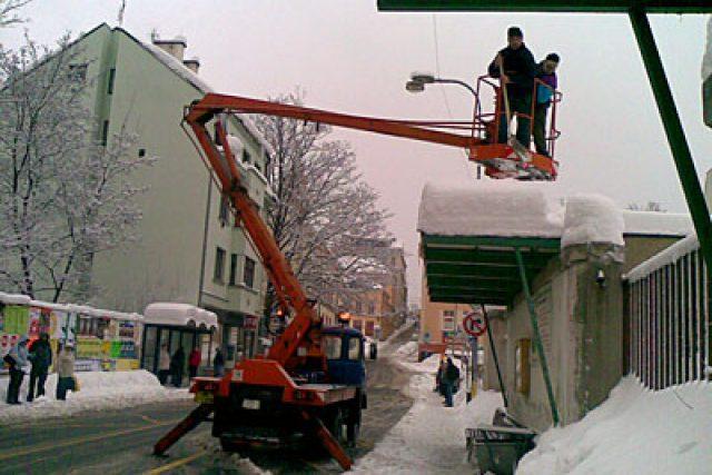 Technické služby v ulicích Jablonce nad Nisou