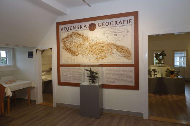 Expozice vojenské geografie v Dobrušce