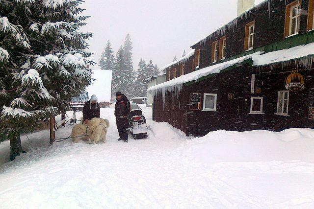 Horská chata Lesní bouda na vrcholcích Krkonoš