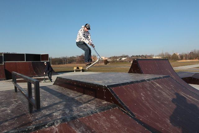Areál České údolí - skatepark