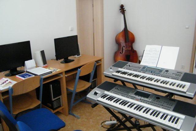 Hudební učebna ZUŠ v Litvínově   foto: Gabriela Hauptvogelová,  Český rozhlas
