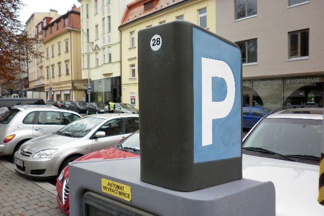 Parkovací automat v Brně