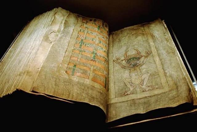 Mezi sbírky Rudolfa II. patřil také Codex Gigas