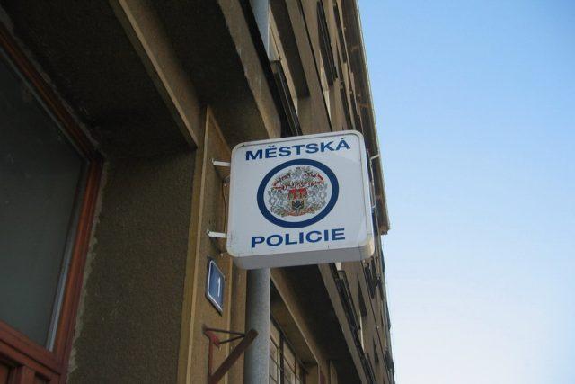 městská policie, poutač
