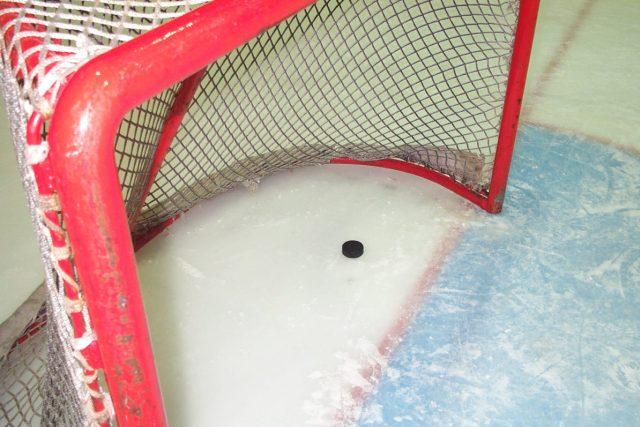 Hokejová branka. Ilustrační foto